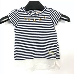 juicy couture baby girl Top Size 24 Month Striped